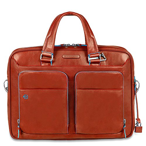 Piquadro Portfolio Computer Briefcase with iPad Compartment, Orange, One Size by Piquadro
