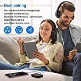 Boltune aptX Low Latency Bluetooth V5.0 Transmitter Receiver, Support Optical Digital Toslink, 20H Playtime, aptX-HD, for 3.5mm Aux, RCA, Wireless Audio Adapter for TV, Home Stereo