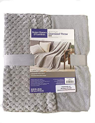 Better Homes Gardens Throw Blanket 50 inch X 70 inch (Silver)