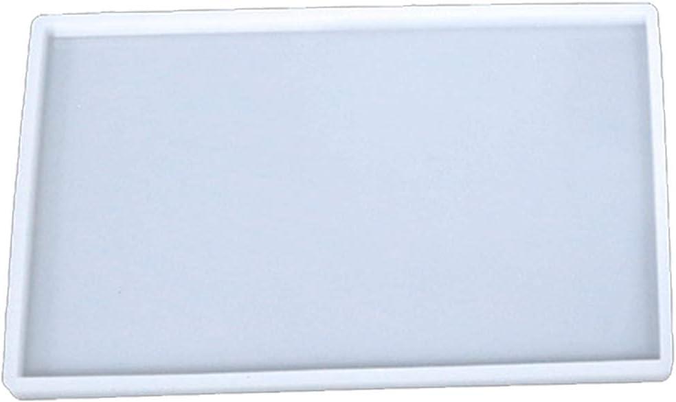 Molde de silicona para resina o epoxi rectangular de 25x15cm