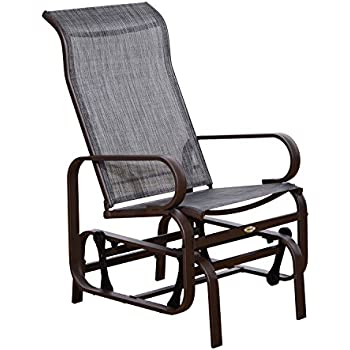 Elegant Outsunny Outdoor Fabric Gliding Chair