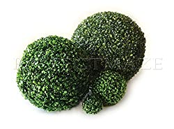 Perfectmaze Boxwood Ball-shaped Artificial Topiary Sphere Pomander Orb Indoor Outdoor Centerpiece for Wedding Home