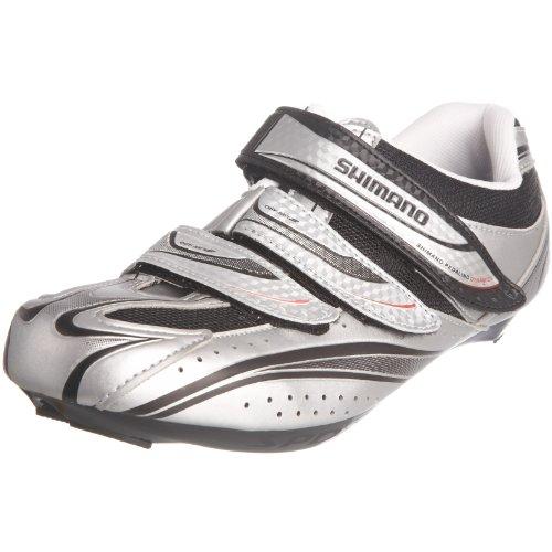 Shimano R077, zapatillas de ciclismo para hombre Plateado (Silver)