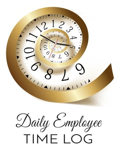 daily employee time log employee hour tracker time sheet notebook