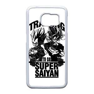 Dragon Ball Z Funda Samsung Galaxy S6 Edge Funda Caja del teléfono celular blanco M1T5MC