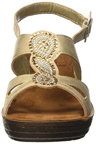 In Blu Glamour, Sandalias de Tacón Alto para Mujer Beige (Sabbia)