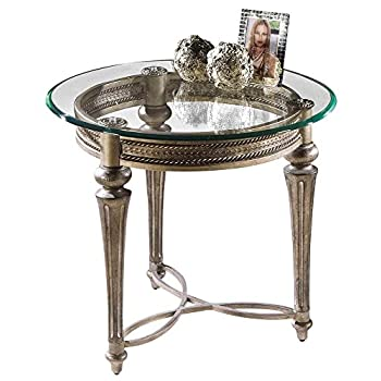 Magnussen Furniture Round Glass Top End Table - Galloway