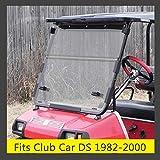 KEMiMOTO Golf Cart Windshield Windscreen Fits Club Car DS 1982 to 2000 Clear