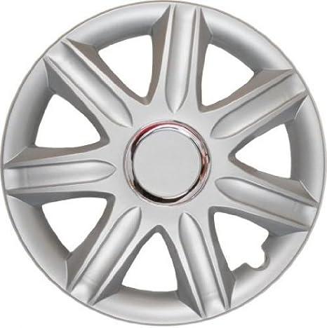 4 Tapacubos Tapacubos tipo Samoa Lux Plata con anillo cromado, apta para Hyundai 14 pulgadas Llantas de Acero: Amazon.es: Coche y moto
