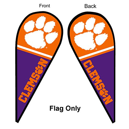 (Clemson Tigers Teardrop and Feather Flag )