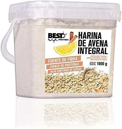 Best Protein Harina de Avena Limón Canela - 1900 gr: Amazon.es ...