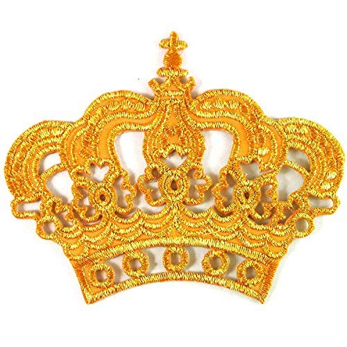 (Gold Crown Imperial King Queen Embroidered Iron on Patch #)