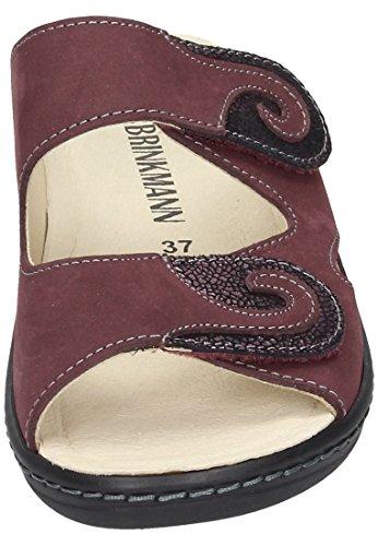 Dr. Brinkmann Dr. Brinkmann Damen Pantolette - Zuecos de Piel para mujer Negro negro Rojo - rojo