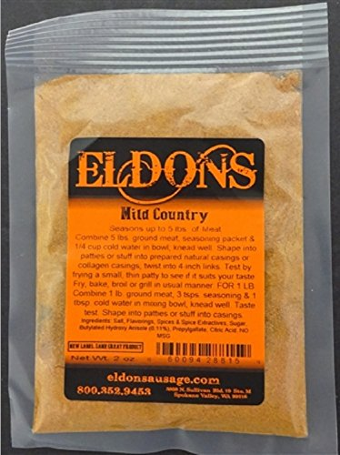 Eldon's Sausage and Jerky Supply Mild Country Sausage Seasoning, 0.135 (Country Meat Sausage)