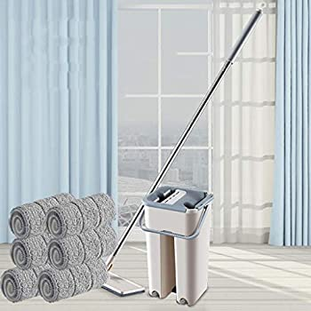 Minglife Flat Squeeze Mop and Bucket System