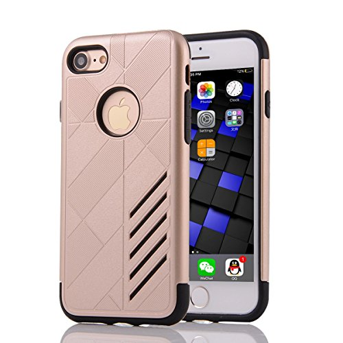 """HYAIT® For IPHONE 7 4.7"""" [CONTRAST]Case Dual Layer Hybrid Armor Rugged Plastic Hard Shell Flexible TPU Bumper Protective Cover-XJAE05"""