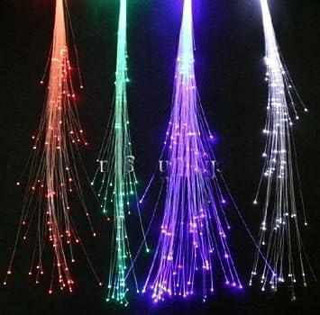 Amazon 10 pack light up fiber optic led hair lights 14 10 pack light up fiber optic led hair lights 14quot strands pmusecretfo Images