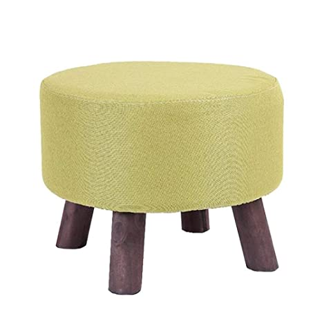 Wood Big Support Ottoman Footstool Footrest Pouffe Padded Chair Seat Stool