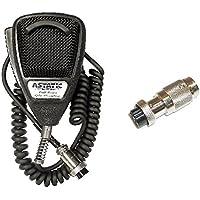 Astatic 636L 4-Pin CB Radio Microphone W/ 4-Pin Midland Radio Compatible Adapter