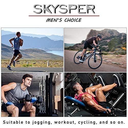 SKYSPER 3 Piezas Pantalones Cortos de Compresión Hombre Mallas Cortas Running Leggings Deportivos para Hombres Secado Rápido Transpirable para Deporte, Fitness, Gym