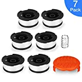 AIVS Line String Trimmer Replacement Spool, 30ft 0.065'' Autofeed Replacement Spools for BLACK+DECKER String Trimmers, 7 Pack (6 Replacement Spool, 1 Trimmer Cap)