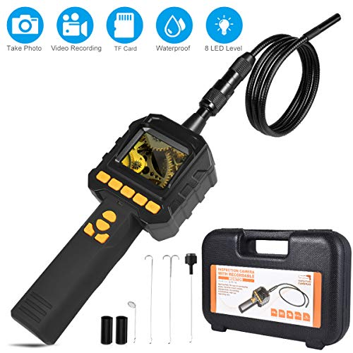 Borescope Inspection Camera - Dericam Endoscope Camera with Record Video and Take Photo - IP67 Waterproof Industrial Endoscope Batteries Included (Upgraded Version)