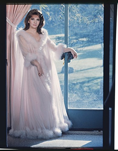 Gina Lollobrigida Vintage Glamour Pin Up Nightgown Original Photo Transparency - Exclusive Nightgown