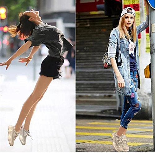 Mujer Running de Zapatillas Showlovein Beige para xIwpYnCq