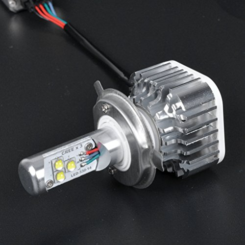 Price comparison product image High Power 30W 3000LM 6000K H4 9003 HB2 XM-L2 CREE LED Motorcycle High Low Beam Head Light Lamp Bulb 1x