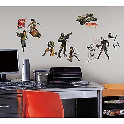 York Wallcoverings RMK2622SCS Star Wars Rebels Peel and Stick Wall Decals,