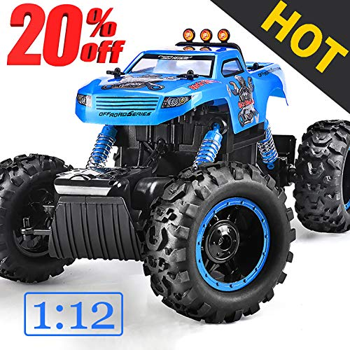 (NQD Remote Control Trucks Monster RC Car 1: 12 Scale Off Road Vehicle 2.4Ghz Radio Remote Control Car 4WD High Speed Racing All Terrain Climbing Car Gift for Boys)