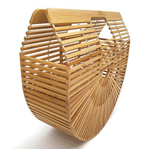 Women Bamboo Purse Handmade Handbag Tote Bag by vodiu (Image #1)