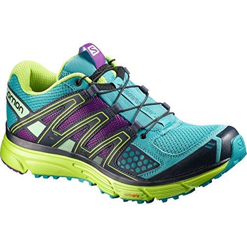 Salomon Women's X Mission 3 W Trail Running Shoe, Teal Blue