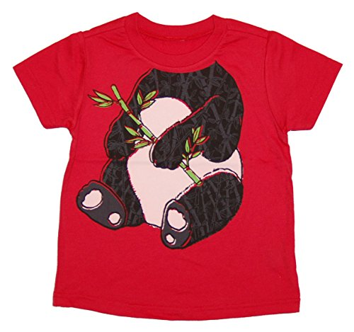 Peek-A-Zoo Toddler Become an Animal Short Sleeve T shirt - Panda Red (2T) -