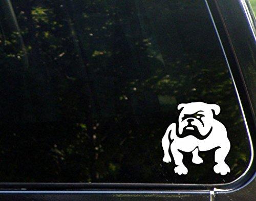 english bulldog vinyl car sticker - 1