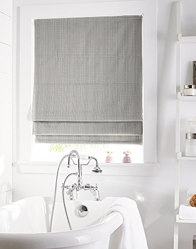 "Curtainworks Jolie Window Shade, 23"" W x 64"" L, Grey"