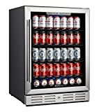 Kalamera Beverage Cooler and Fridge – Fit Perfectly into 24 inch Space Under Counter or Freestanding – 154 Cans Capacity – for Soda, Water, Beer or Wine – For Kitchen or Bar with Blue Interior Light Review
