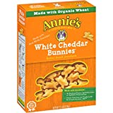 Annie's White Cheddar Bunnies Snack Crackers 7.5 oz (Pack of 12)