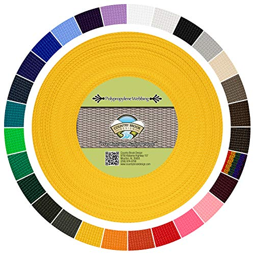 Country Design Horse - Country Brook Design | Polypropylene Webbing (Yellow, 25 Yards, 1 Inch)