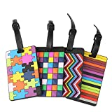 Tinksky 4pcs Suitcase Bag Tags Luggage Identifier Business Card Holder for Travelling