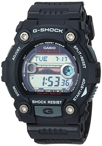 Solar Casio Atomic Watch Power - Casio Men's G-Shock Quartz Watch with Resin Strap, Black, 30 (Model: GW-7900-1CR)