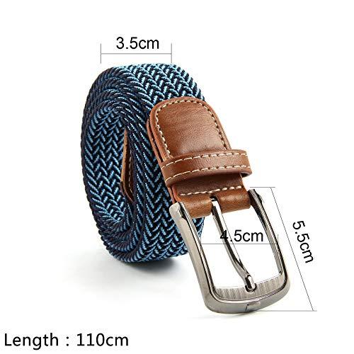 Allright Belts uomo con Jeans elasticizzati scuro fibbia blu da gfqFgTwHr