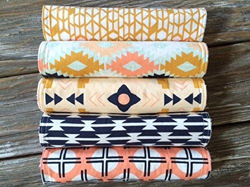 Burp Cloths ~ YOU Choose 1 or all 5! ~ Arizona ~ Tribal//South West//Native//Canyon//Tomahawk//Agave