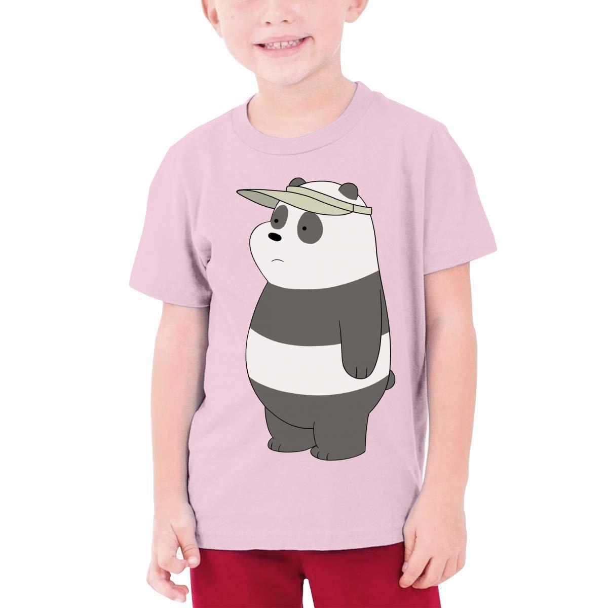 Juwuwenhuachua Design We Bare Bears Funny T Shirt O-Neck for Teenagers Black