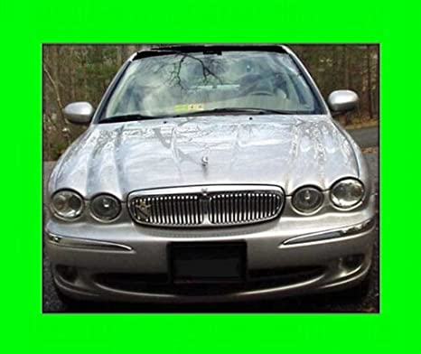 312 MOTORING Fits 2002 2006 JAGUAR X TYPE X TYPE CHROME GRILL GRILLE KIT