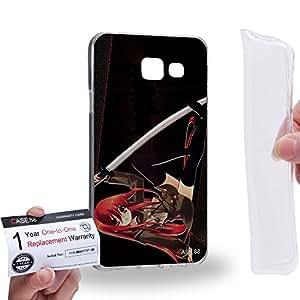 Case88 [Samsung Galaxy A3 (2016)] Gel TPU Carcasa/Funda & Tarjeta de garantía - Shakygan No Shana 1545