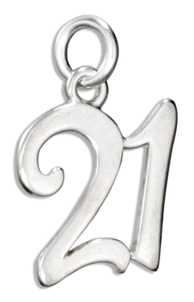 Sterling Silver Number ''21'' Charm