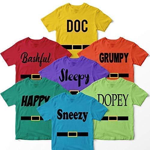 Doc Bashful Sleepy Grumpy Happy Sneezy Dopey Costume Halloween Family Matching Customized Handmade T-shirt Hoodie/Sweater / Long Sleeve/Tank Top/Premium T-shirt -