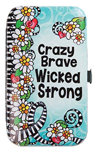 Brownlow Gifts Manicure Set, Crazy Brave Wicked Strong (Set Favors Manicure Wedding)