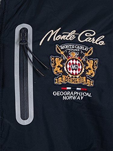 Giacca Blu Geographical Collezione Nuova Bomber Norway Uomo qwfxfYt1